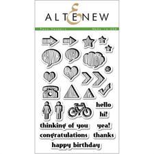 Altenew Clear Stamp Set - Faux Veneer