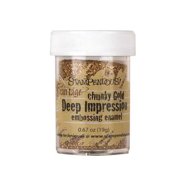 Deep Impressions Embossing Pulver - Chunky Gold