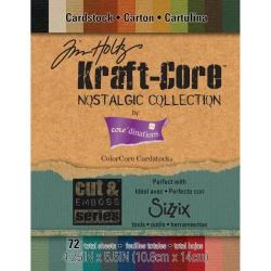 "ColorCore Cardstock Set 4.25""x5.5"" "" - Tim Holtz Kraft Core Nostalgic Collection (lille blok)"