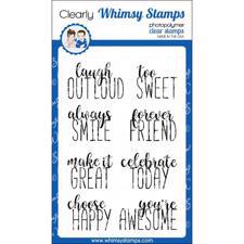 Whimsy Stamps Clear Stamp - Happy Headlines