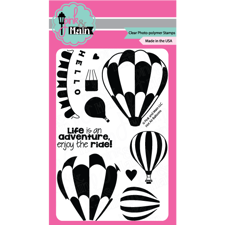 Pink & Main Clear Stamp Set - Hot Air Balloons