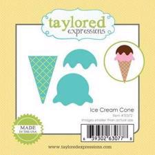 Taylored Expressions Dies - Little Bits / Ice Cream Cone
