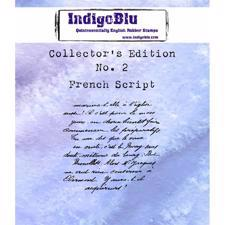 Indigo Blu Cling Stamp - Collectors Edition 2 - French Script