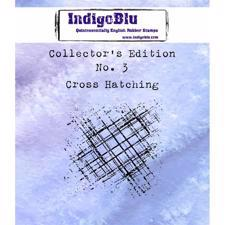 Indigo Blu Cling Stamp - Collectors Edition 3 - Cross Hatching