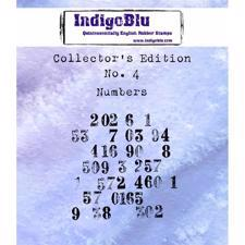 Indigo Blu Cling Stamp - Collectors Edition 4 - Numbers