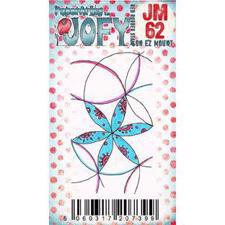 PaperArtsy Mini Cling Stamp - JOFY No. 62 Circle Flowers