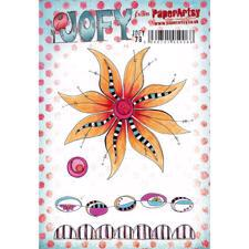 PaperArtsy A5 Cling Stamp - JOFY No. 78 (Big Flower)