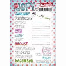 PaperArtsy A5 Cling Stamp - JOFY No. 87 / Months