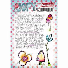 PaperArtsy A5 Cling Stamp - JOFY No. 89 / Scribbles