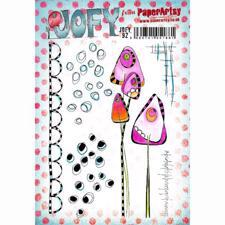 PaperArtsy A5 Cling Stamp - JOFY No. 92 / Mushroom and Dots