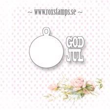 Rox Stamps Die - Julekugle m. God Jul