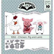 Karen Burniston Die - Chicken, Pig and Lamb