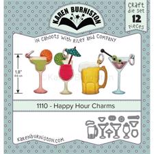 Karen Burniston Die - Happy Hour Charms