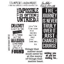 Tim Holtz Cling Rubber Stamp Set - Words for Thought