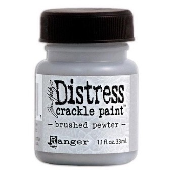 Crackle Paint - Brushed Pewter (s�lv)