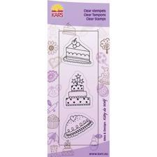 Clear Stamp Trio - Cake x 3