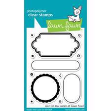 Lawn Fawn Clear Stamps - Just For You Labels
