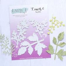 Lady E Design Dies - Leaves 6 Herbs
