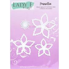 Lady E Design Dies - Poinsettia Set (only flowers)