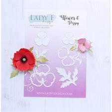 Lady E Design Dies - Flower 6 Poppy