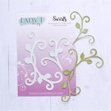 Lady E Design Dies - Swirls