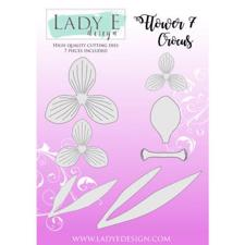 Lady E Design Dies - Flower 7 Crocus