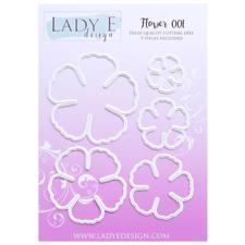 Lady E Design Dies - Flower 001 (5-petal)