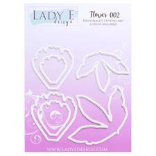 Lady E Design Dies - Flower 002 (rough petals)