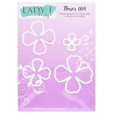 Lady E Design Dies - Flower 004 (4-petal)