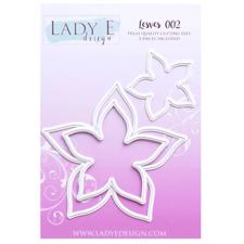 Lady E Design Dies - Leaves 002 (star)