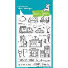Lawn Fawn Clear Stamp - Village Heroes