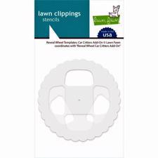 Lawn Fawn Clipping Stencils - Reveal Wheel / Car Critters Add-On