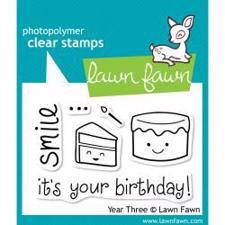 Lawn Fawn Clear Stamp - Year Three