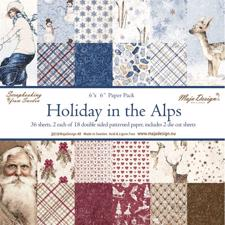Maja Design Scrapbook Paper Stack 6x6 - Holiday in the Alps