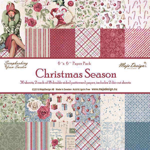Maja Design Scrapbook Paper Stack 6x6 - Christmas Season