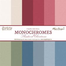Maja Design Scrapbook Paper - Shades of Christmas - Monochromes (6 ark ensfarvet)