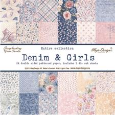 Maja Design Scrapbook Paper - Denim & Girls - Komplet Sæt (24 ark)