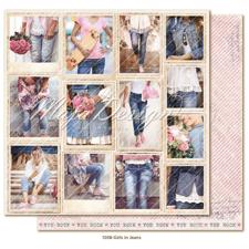 Maja Design Scrapbook Paper -Denim & Girls / Girls in Jeans Snapshots