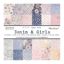 "Maja Design Scrapbook Paper Stack 6x6"" - Denim & Girls"