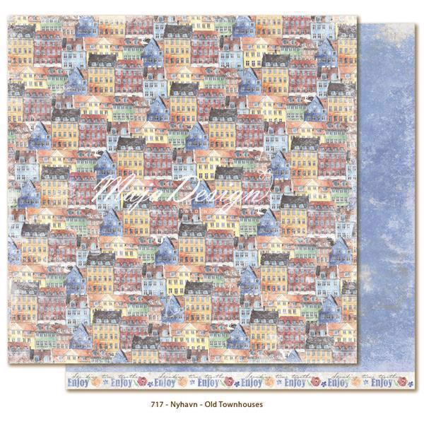 Maja Design Scrapbook Paper - Nyhavn / Old Townhouses