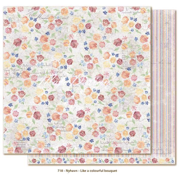 Maja Design Scrapbook Paper - Nyhavn / Like a Colourful Bouquet