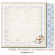 Scrapbook Paper - Vintage Baby  / It's a Boy