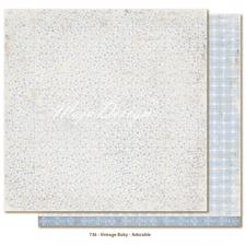 Scrapbook Paper - Vintage Baby  / Adorable