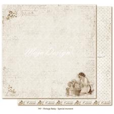 Scrapbook Paper - Vintage Baby  / Special Moment
