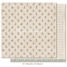 Scrapbook Paper - Vintage Baby  / First Teddy Bear