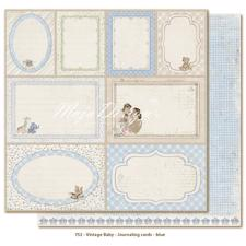 Scrapbook Paper - Vintage Baby  / Journaling Cards Blue