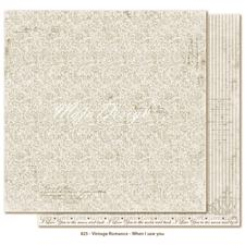 Scrapbook Paper - Vintage Romance / When I saw you