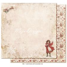 Maja Design Scrapbook Paper - I Wish Santa will remember me