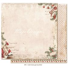 Maja Design Scrapbook Paper - I Wish Santa got my letter
