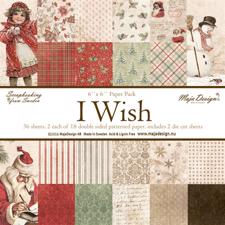 Maja Design Scrapbook Paper Stack 6x6 - I Wish
